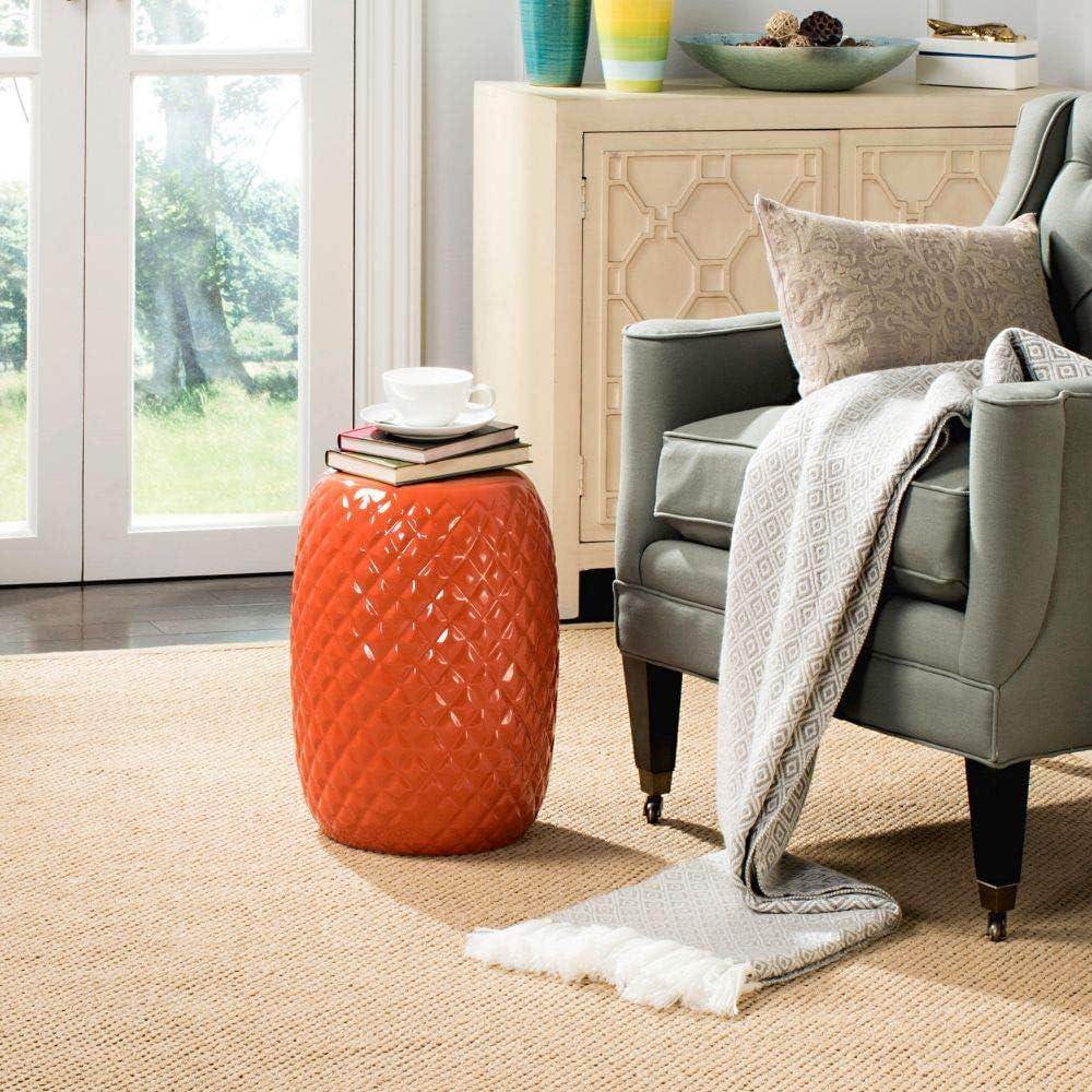 Safavieh Calla Ceramic Decorative Garden Stool, Orange