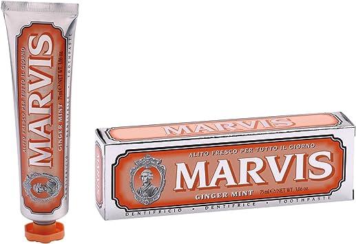 Marvis Pasta de dientes Ginger Mint, 3-pack (3 x 85 ml): Amazon.es ...