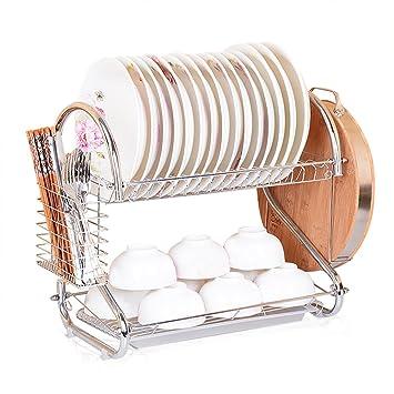 Secador de S Shape - Estante para platos y Drainboard Set Acero Inoxidable escurreplatos: Amazon.es: Hogar