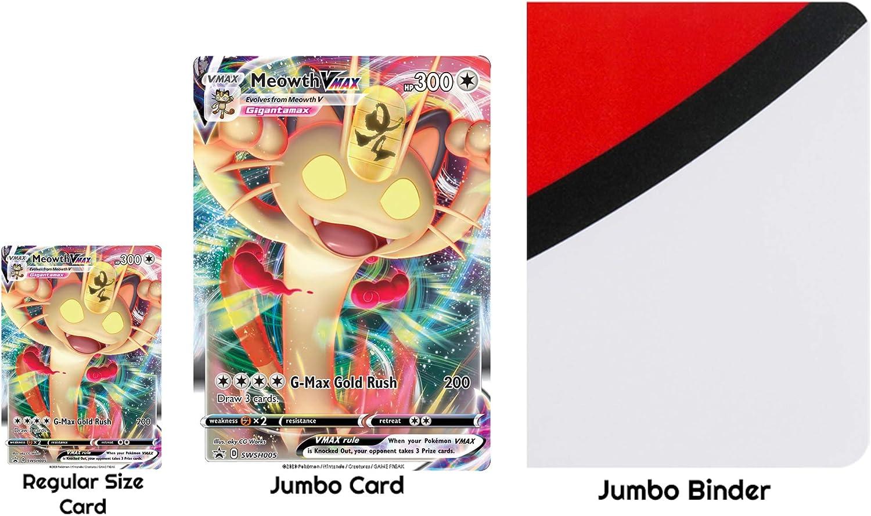 Amazon.com: Totem World 3 Oversized Jumbo Pokemon Cards with Totem Inspired  Jumbo Poke Ball Binder Collectors Album: Toys & Games