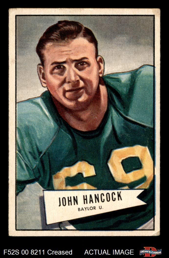 1952 Bowman Small # 36 John Lee Hancock Chicago Cardinals-Fb (Football Card) Dean'S Cards 3 - Vg Cardinals-Fb Baylor