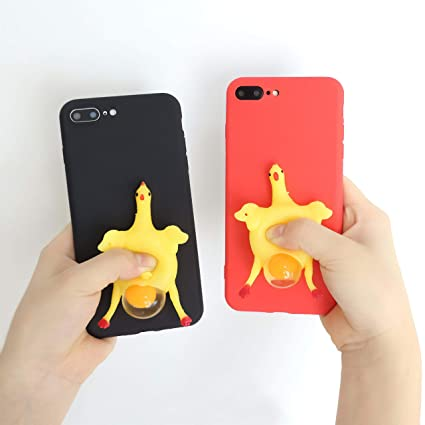 super popular 6afbd 522f2 Amazon.com: 1 PC Chicken Lay Egg Squishy Phone Case for iPhone 7 7 ...