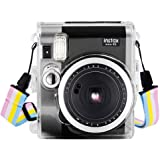 Wolven Clear Camera Case Shoulder Strap Compatible with Fugifilm Instax Mini 90 Instant Camera - Mini 90 Transparent