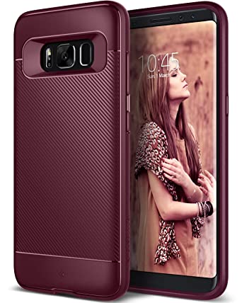 get cheap 14df5 fea4d Caseology Vault for Galaxy S8 Case (2017) - Minimal & Protective - Burgundy