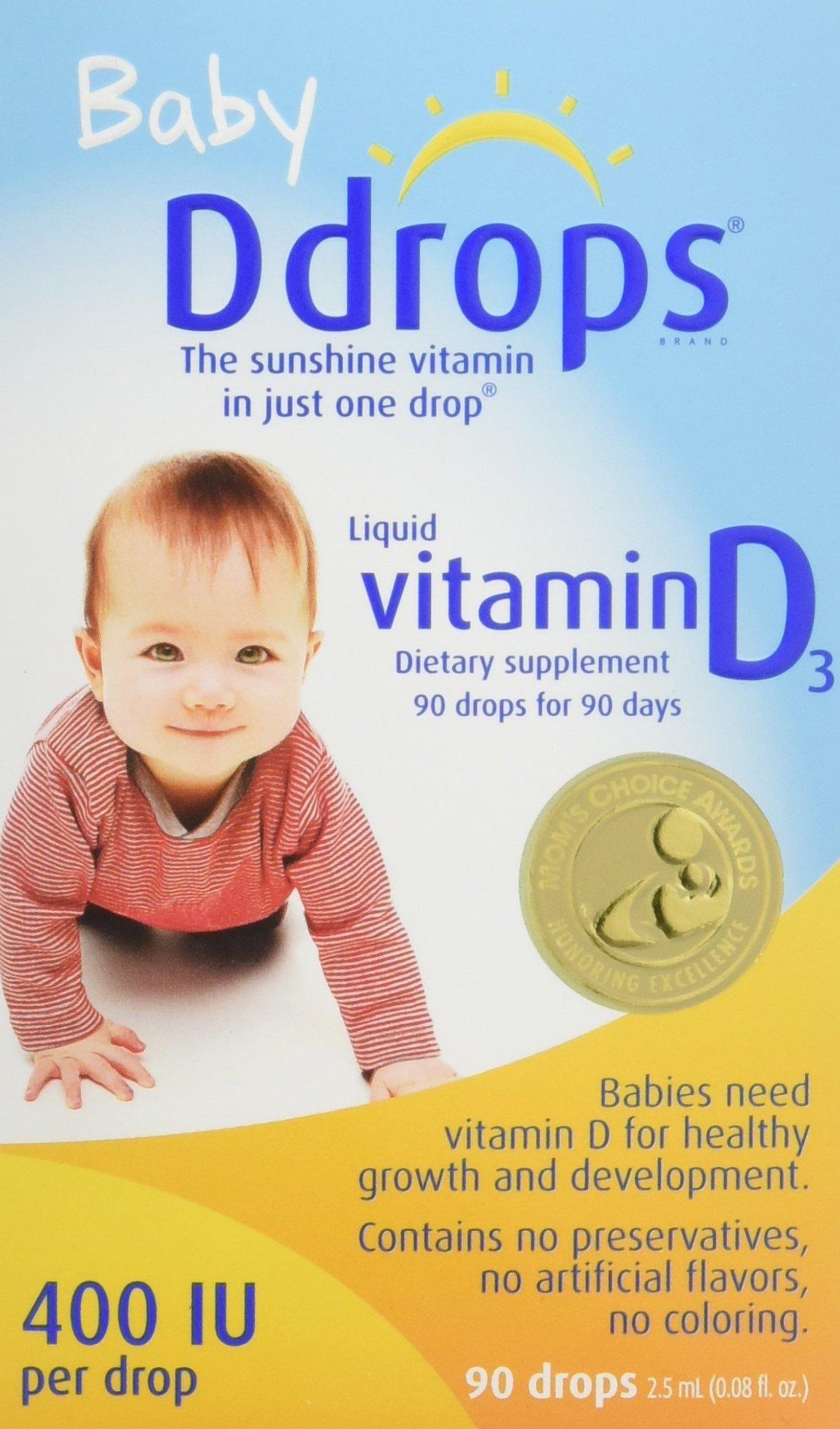 Ddrops Baby 400 IU, Vitamin D, 90 Drops
