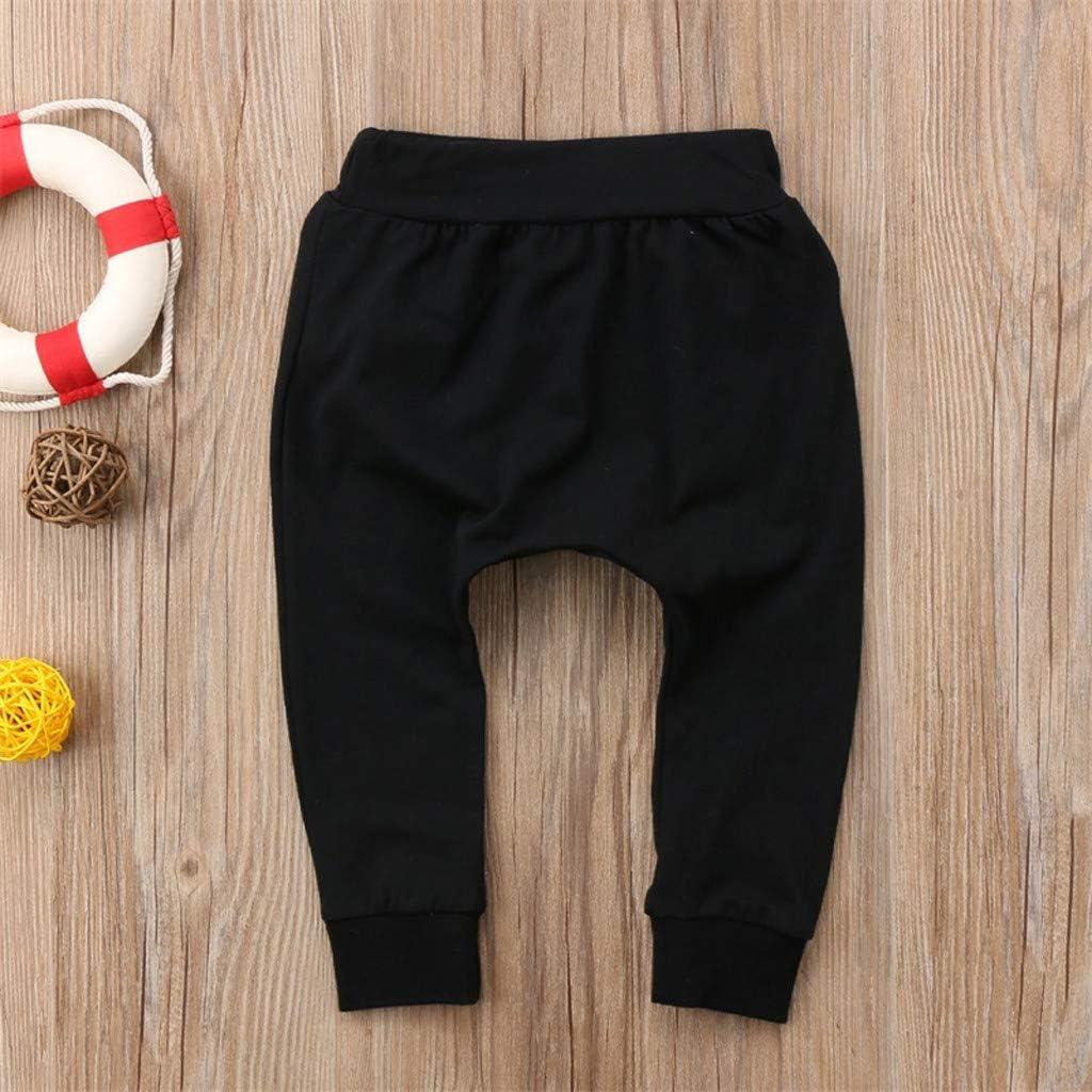 Mr.Macy Super Cute Toddler Baby Boy Girl Letter Harem Pants Leggings Trousers Clothes