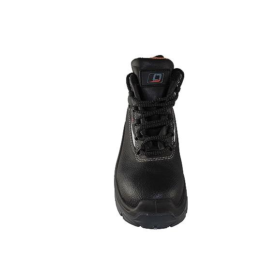 Opsial - Calzado de protección de Piel para hombre negro negro, color negro, talla 43