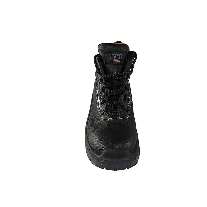 Opsial - Calzado de protección de Piel para hombre, color negro, talla 43 EU