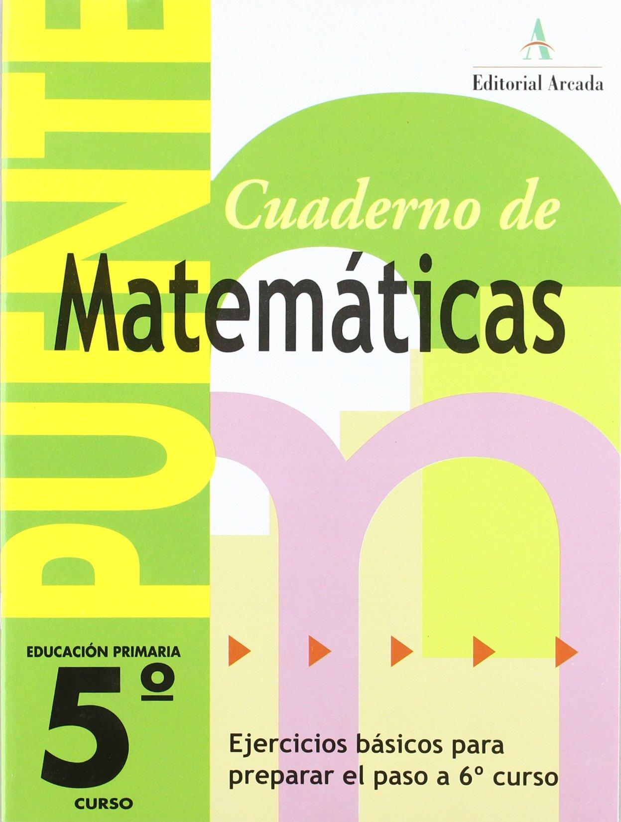 Cuaderno De Matemáticas. Puente 5º Curso Primaria. Ejercicios ...