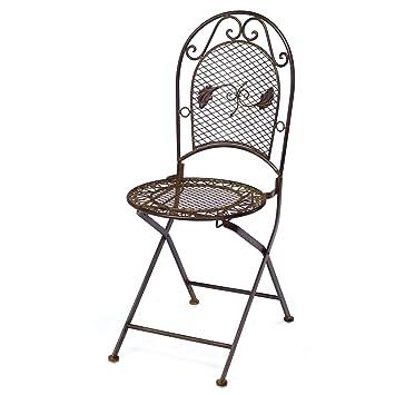 Nostalgia silla de 9 kg de hierro forjado silla plegable de ...