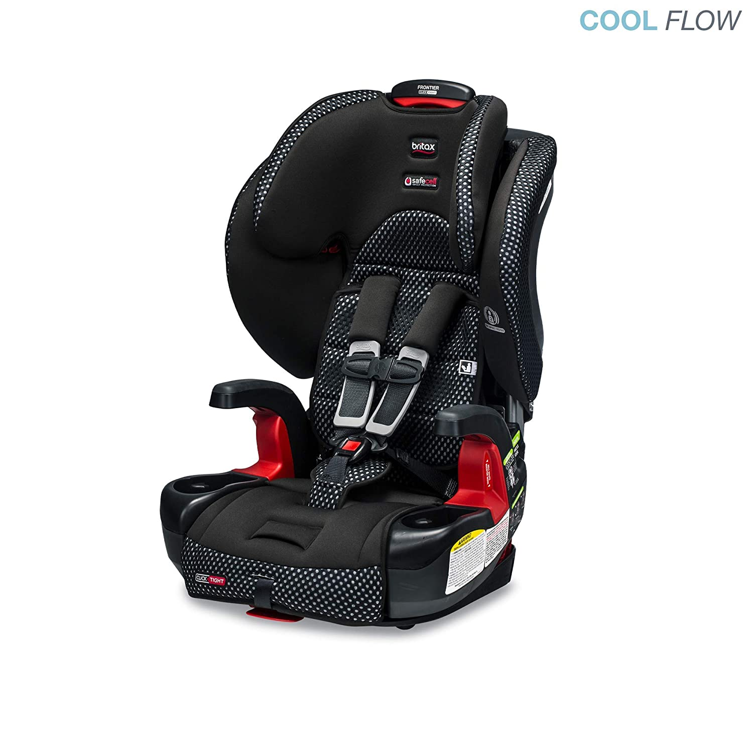 Amazon.com : Britax Frontier ClickTight Cool Flow Harness-2-Booster Car Seat,  Grey : Baby