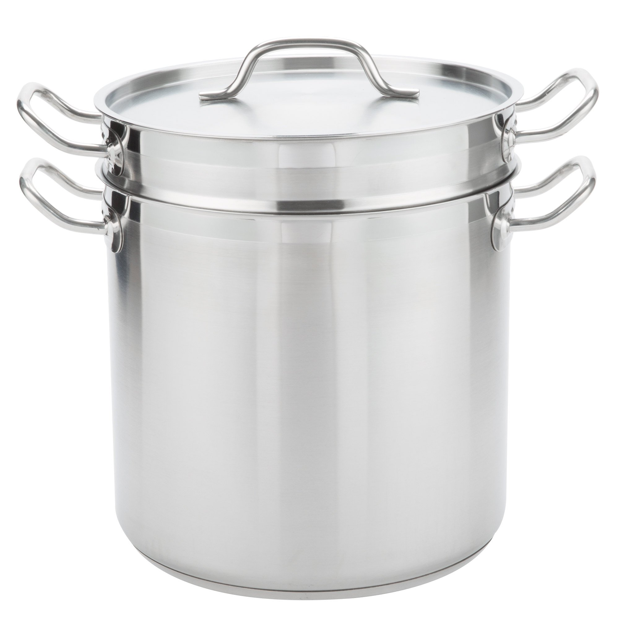 TableTop King 16 Qt Stainless Steel Aluminum-Clad Double Boiler