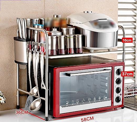 Estante de Cocina Horno microondas Estante Baquelita Acero ...