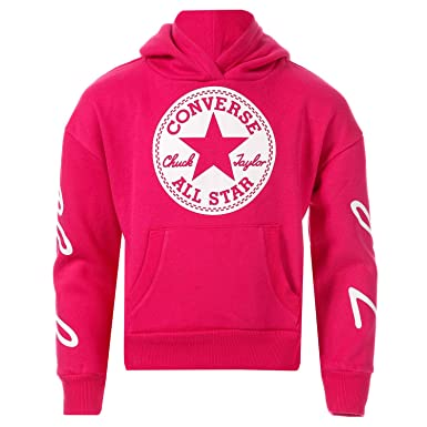 9c6f29faa63a Converse Girls Junior Girls Chuck Taylor Signature Hoody in Pink - 8-10   Converse  Amazon.co.uk  Clothing