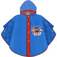 PERLETTI Chubasquero Niño Paw Patrol Azul - Poncho Impermeable Niños 3 4 5 6 Años Patrulla Canina - Ropa de Agua con…