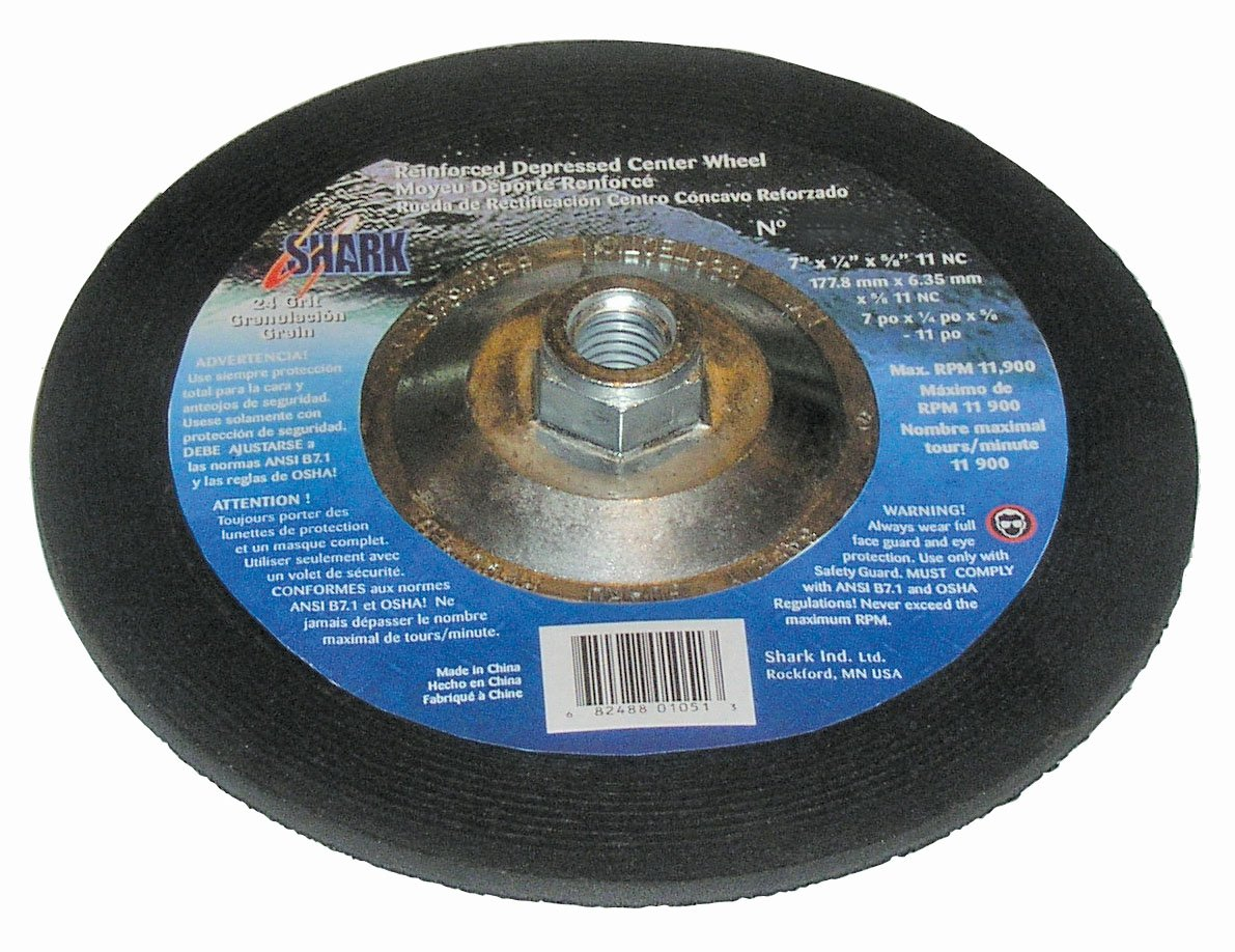 Shark SDP902    9-Inch by 0.25-Inch by 5//8-11 Depressed Center Wheel with Grit-24