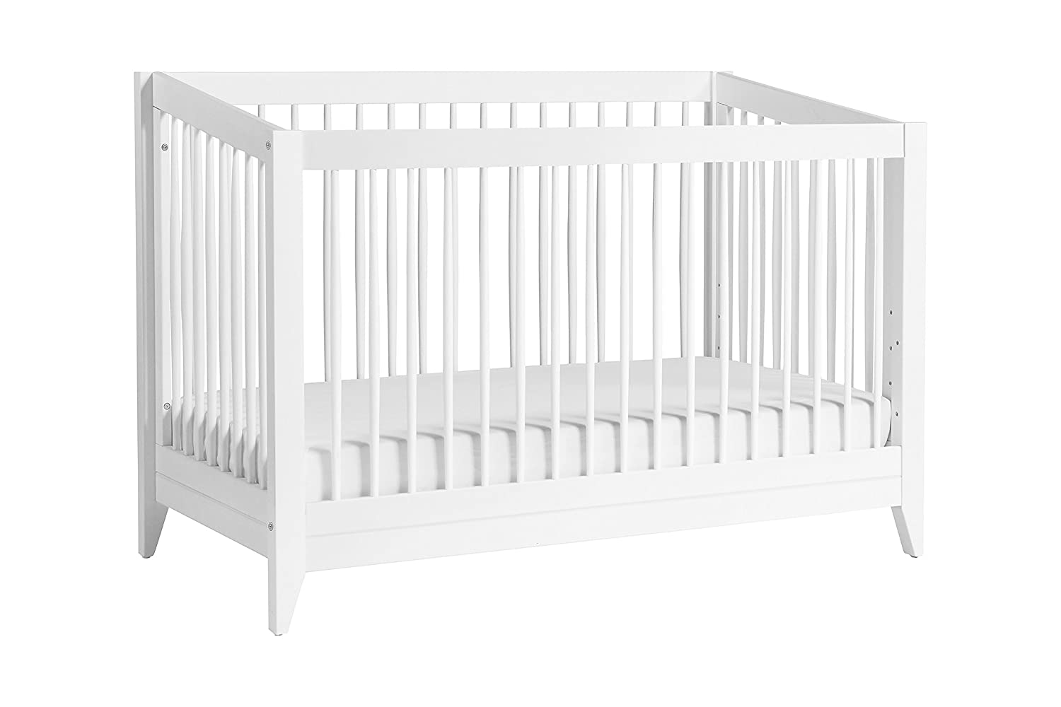Babyletto Sprout 4-in-1 Convertible Crib with Toddler Bed Conversion Kit, Chestnut / Natural DaVinci - DROPSHIP M10301CTN