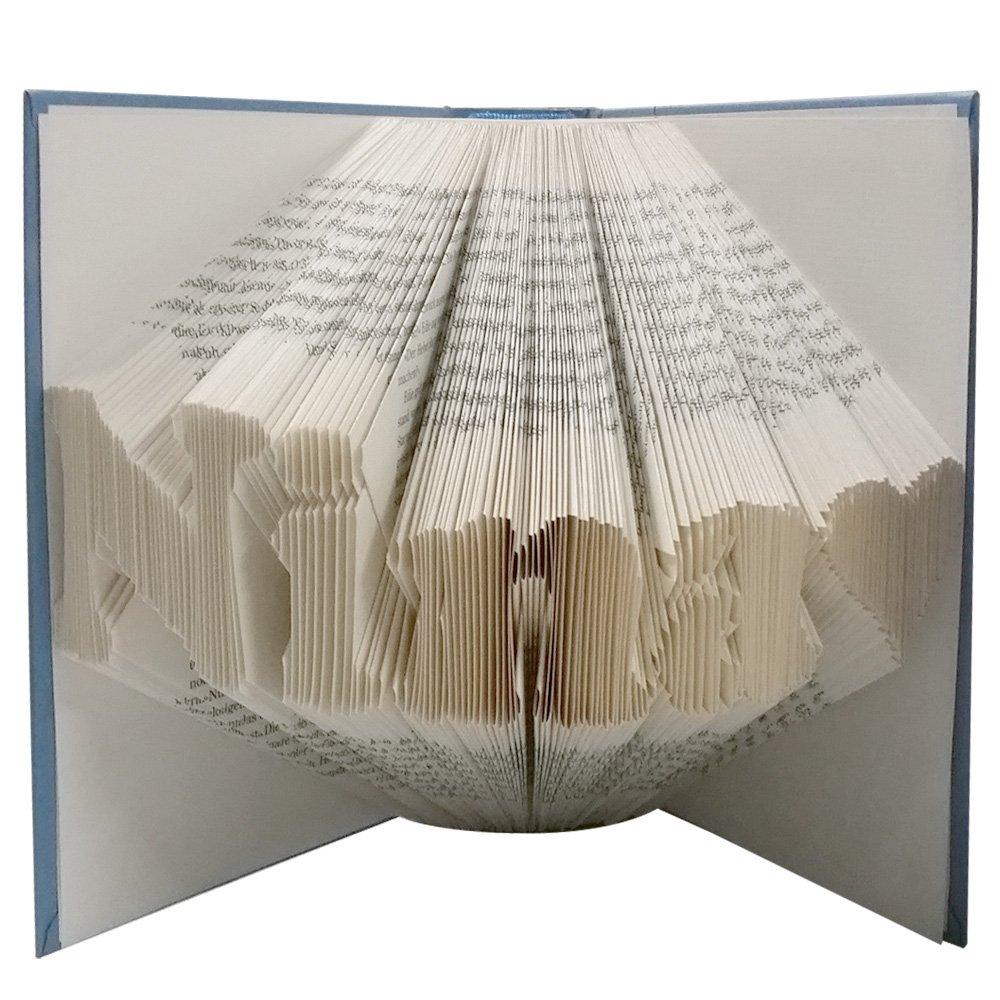 Gefaltetes Buch mit Wunschtext - handgearbeitet - Geschenk Weihnachten, Geburtstag, Hochzeit, Mann, Frau - Buchkunst
