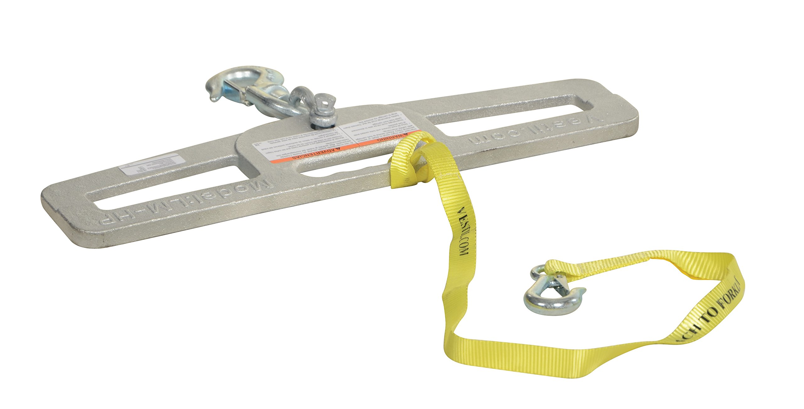 Vestil LM-HP4-S Swivel Lift Master Hook Plate, 24'' Width, 6'' Height, 4000 lbs Capacity