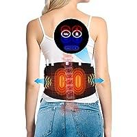 DOACT Cinturón calefactor de cintura, almohadilla térmica vibratoria con motor masajeador, compresa caliente para…