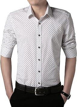 Gladiolus Camisas a Lunares para Hombre Moda de Manga Larga Slim Fit Casual M/L/XL/XXL/3XL: Amazon.es: Deportes y aire libre
