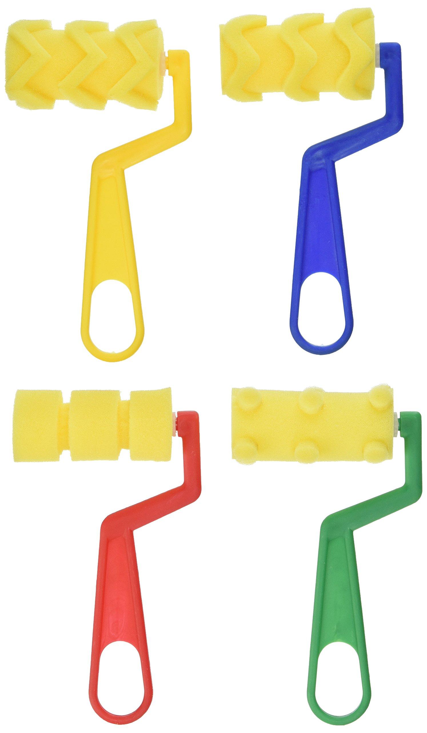 School Smart 85729 Unique Shape Sponge Roller Set - Set of 4 by School Smart