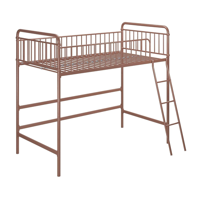 Max Finn Loft bed, Twin, Rose Gold