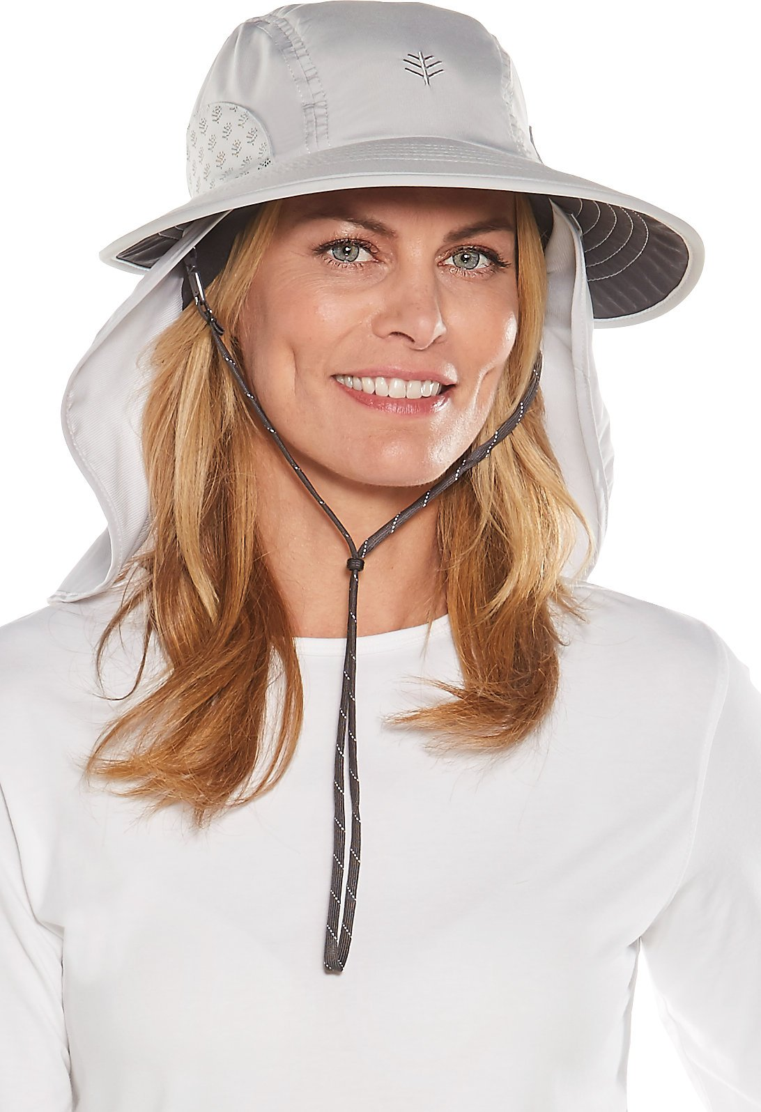 Coolibar UPF 50+ Women's Men's Explorer Hat - Sun Protective (Large/X-Large- Light Grey) by Coolibar (Image #1)