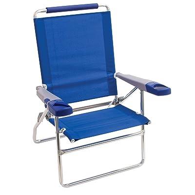"Rio Beach 15"" Extended Height 4 Position Folding Beach Chair : Sports & Outdoors"