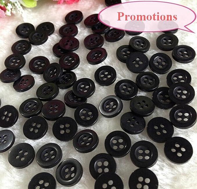 c00022e900 Chengyida 1000 pezzi 11.4 mm nero compatibile con bottone bottoni ...