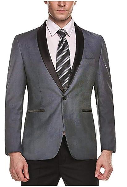 Banbie Traje de Vestir de Hombre Un Solo botón Boda Blazer ...
