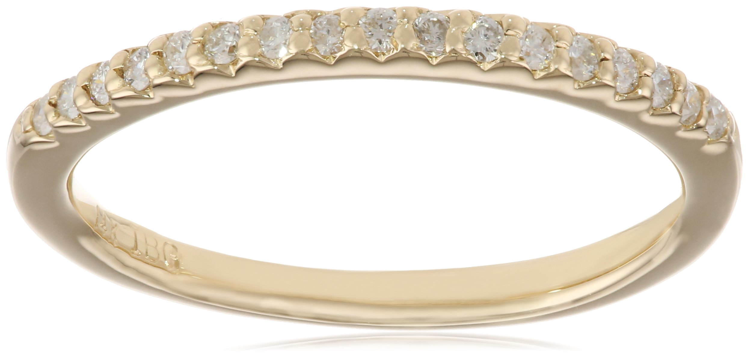 14k Yellow Gold Diamond ''Stackable'' Band, Size 6
