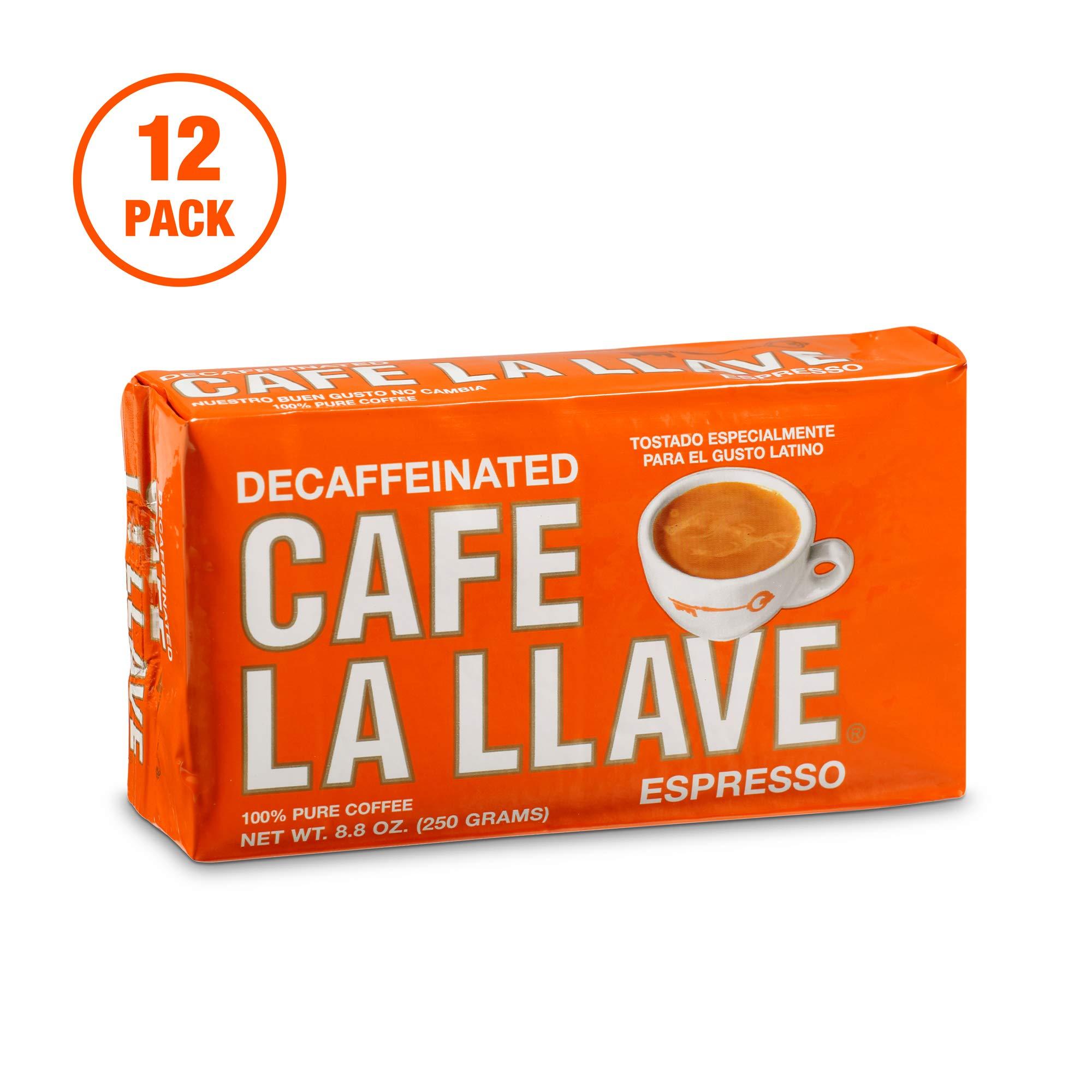 Café La Llave Decaf Espresso Dark Roast, 8.8-Ounce (Pack of 12)
