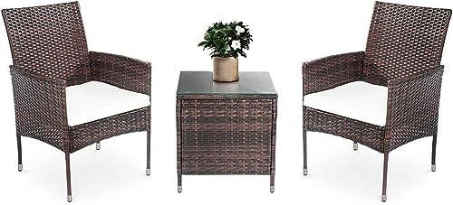 LinkRomat 3 Pieces Patio Furniture Sets