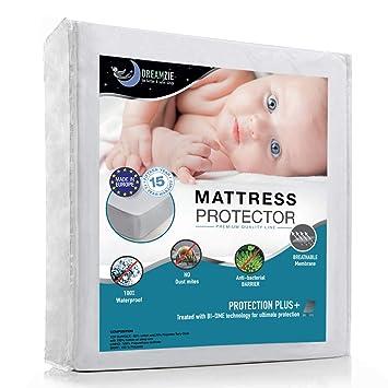 Dreamzie Protector de Colchón Impermeable - Cubre Colchón Transpirable, Hipoalergénico, Anti-Ácaros,
