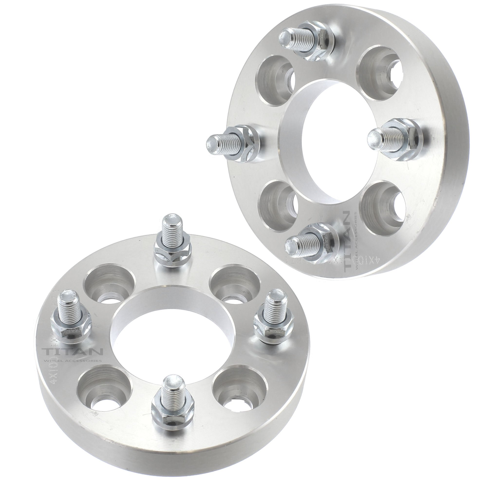 2pc 1.0'' Thick | 4x4 to 4x4 Wheel Spacers fits EZ GO EZGO Club Car Golf Cart 25mm Overall Width