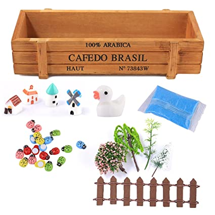 Fcoson Miniature Ornaments Kit Diy Fairy Garden Accessories