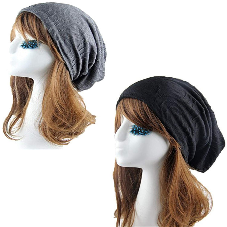 Woman Skull Caps Unisex Indoors Cotton Slouchy Beanies for Women Slap Chemo Caps