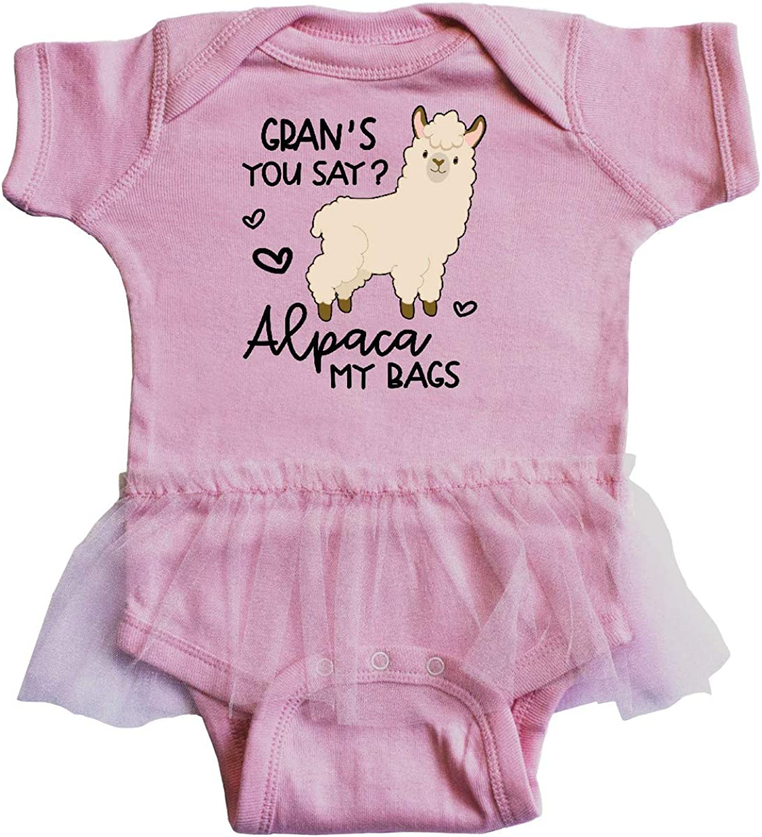 inktastic Grans You Say Alpaca My Bags Infant Tutu Bodysuit
