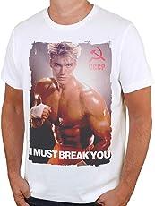 Retro Tees Men's Ivan Drago I Must Break You Movie T-Shirt