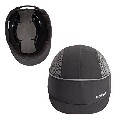 safety bump cap with with reflective stripes lightweight and