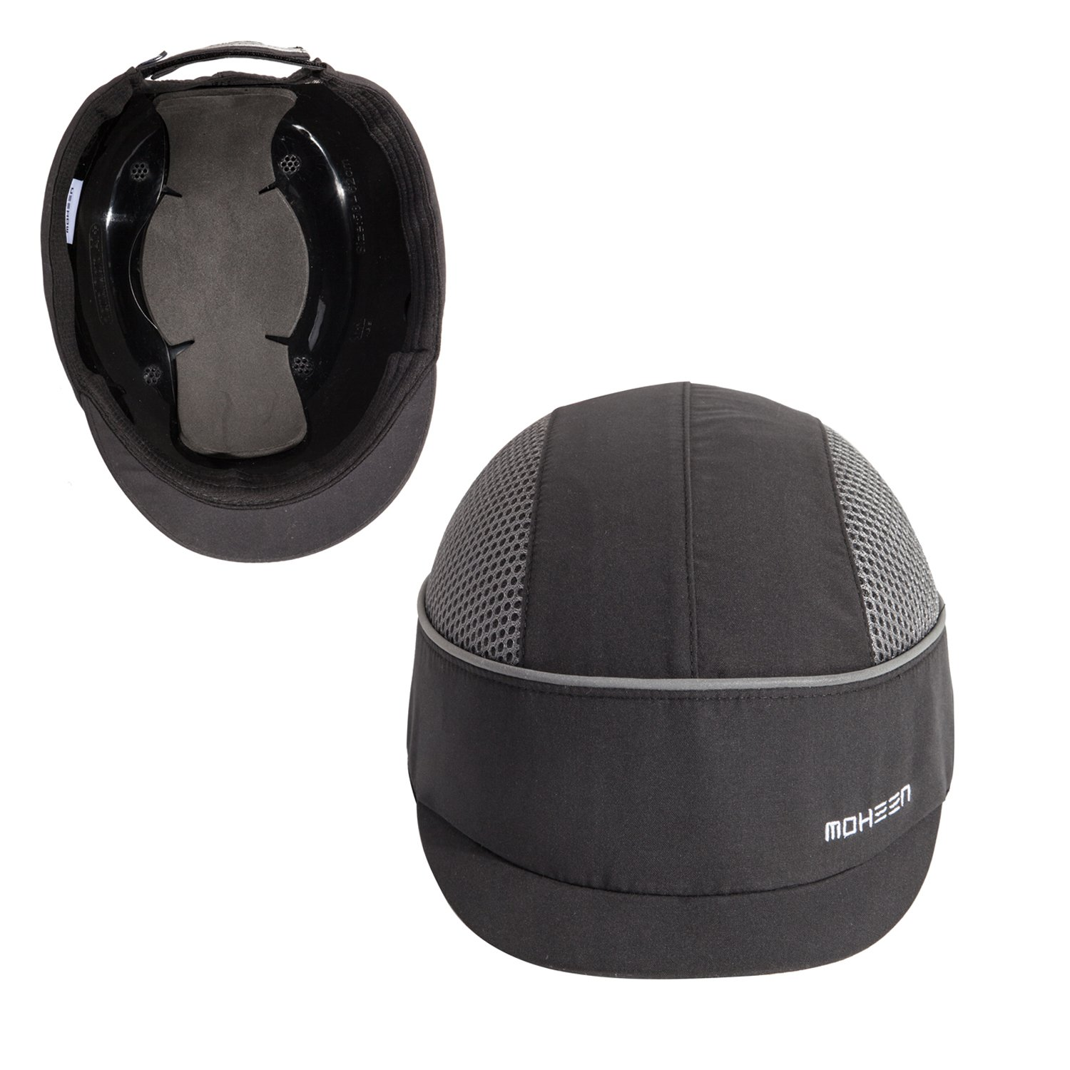 Safety Bump Cap with With Reflective Stripes, Lightweight and Breathable Hard Hat Head Protection Cap