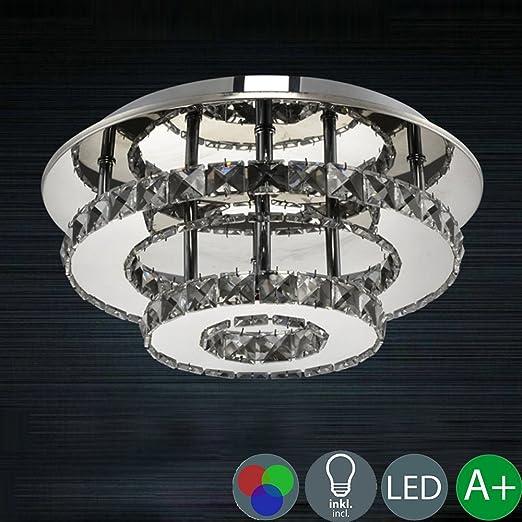 Moderne Clair Cristal Plafond Lampe Creative Ronde Lampe Led