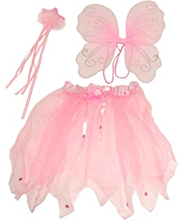 da8e2cad09 Cute Pink Fairy set , Comprising Wings, Wand and Tutu, Ideal Dressing up ,  Fancy Dress. Fairy…