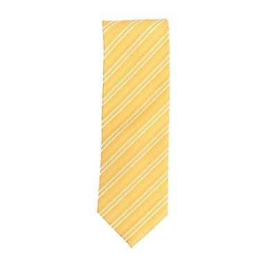 Silk Ties corbata de seda clásico jaune rayas diagonales del lazo ...