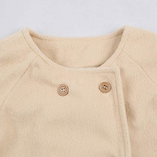 Amazon.com: SMALLE ◕‿◕ Clearance,Autumn Winter Girls Kids Baby Outwear Cloak Button Jacket Warm Coat Clothes: Clothing