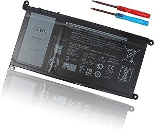 WDX0R Battery for Dell Inspiron 15 5000 7000 Series 15 7573 7560 7569 7570 7579 5565 5567 5568 5570 5578 5579 7586 17 5765 5767 5775 13 7368 7378 5368 5378 5379 Latitude 3189 3580 P66F P58F P32E 42WH