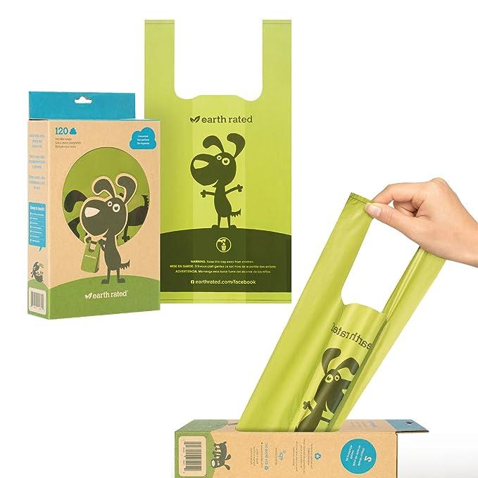 1 opinioni per Earth Rated Sacchetti biodegradabili per escrementi di cane, con manici per una