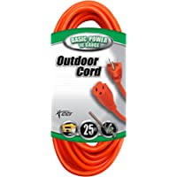 Coleman Cable 25-foot Vinyl Outdoor Extension Cord with 3-Prong Plug (Orange)