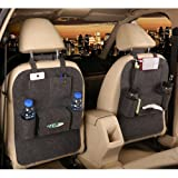 Amazon Price History for:M'Baby 1pc Seat Back Car Organizer Woolen Felt Seat Back Kick Protectors for Kids, Storage Bottles, Tissue Box, Toys (Dark Grey)